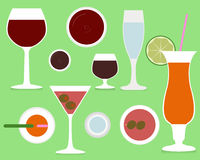 coctail 2 royaltyfri illustrationer