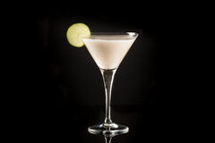 Coctail. Baileys coctail with berry and lime Stock Photo