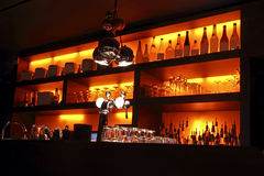 Coctail bar interior. By night Stock Images