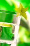 Coctail & carambola Royalty Free Stock Photography