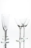 Coctail and Champagne glasses royalty free stock images