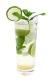 Coctail de Mojito no vidro alto Imagem de Stock
