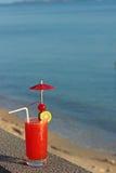 Coctail do Rec pelo mar Imagem de Stock
