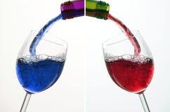 Coctail et vin Photos stock