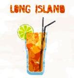 Coctail för Long Islandiste vektor illustrationer
