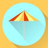 Coctail för paraply för symbol för vektorrundalägenhet Arkivfoto