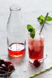 Coctail freddo della ciliegia Fotografia Stock