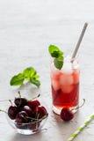Coctail freddo della ciliegia Immagine Stock