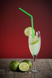 Coctail with fresh limes Royalty Free Stock Photography