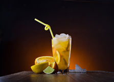 Coctail with fresh orange Royalty Free Stock Images