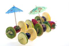 Coctail fruits stock image
