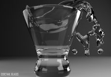 Coctail glass cosmopolitan3D illustration Stock Photography