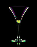 Coctail glass in neon colors Stock Photos
