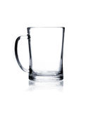 Coctail glass set. Beer mug on white Stock Images