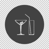 Coctail glasses icon. Subtract stencil design on tranparency grid. Vector illustration vector illustration