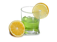 Coctail in glasses and lime Stock Image
