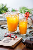 Coctail in glassy jug and glass Stock Images