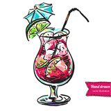 Coctail hand drawn vector. Coctail hand drawn. This is file of EPS8 format royalty free illustration