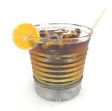Coctail isolated on white Royalty Free Stock Photography