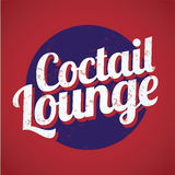 Coctail lounge vintage sign. Vector Royalty Free Stock Photos