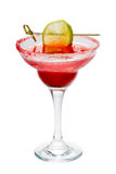 Coctail margarita with lime close-up Royalty Free Stock Image