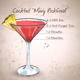 Coctail Mary Pickford Arkivfoto
