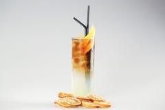 Coctail med citronen Royaltyfria Bilder