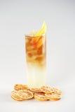 Coctail med citronen Royaltyfri Fotografi