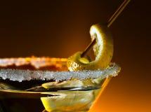 Coctail med citronen Arkivfoto