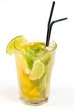 Coctail med limefrukt arkivfoto