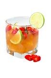 Coctail med limefrukt och peppar Royaltyfri Foto
