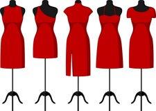 Coctail och aftonklänningar på skyltdocka Royaltyfri Fotografi