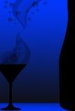 Coctail och flaska vektor illustrationer