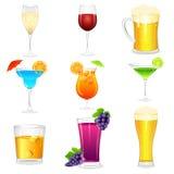 Coctail och hårda drinkar Arkivfoto
