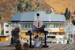 Coctail och kottar på chimbulak Royaltyfri Foto