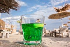 Coctail på stranden Arkivfoton