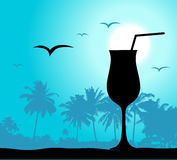 Coctail party on the beach royalty free illustration