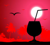 Coctail party on the beach Royalty Free Stock Photography