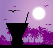 Coctail party on the beach Royalty Free Stock Image