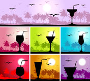 Coctail party on the beach Stock Image
