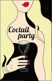 Coctail party poster Royalty Free Stock Image
