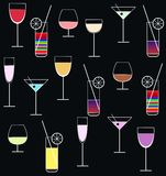 coctail pattern seamless Royalty Free Stock Photo