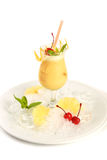 Coctail Pinacolada in bowl glass. Stock Photos