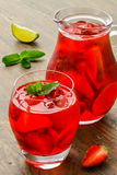 Coctail. Refreshing summer drink with Strawberry Stock Photo
