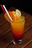 Coctail - tequilasoluppgång royaltyfri bild