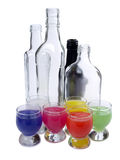 Coctail und Flasche acht Stockbild