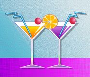 coctailar stock illustrationer