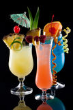coctailar dricker mest tropiska populära serier Arkivfoto