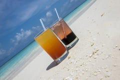 Coctailar i Maldiverna Arkivbilder