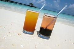 Coctailar i Maldiverna Royaltyfri Bild